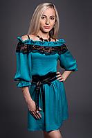 Платье женское модель №439-4, размеры 46-48 бирюза