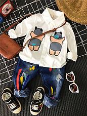 Детская рубашка для мальчика - Спящий мишка Соня 203-2, фото 3