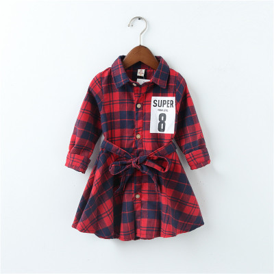 Платье на девочку шотландская клетка красное 205-3