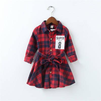 Платье на девочку шотландская клетка красное 205-3, фото 2