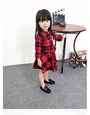 Платье на девочку шотландская клетка красное 205-3, фото 3