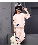 Спортивный костюм на девочку с пайетками розовый 201-2