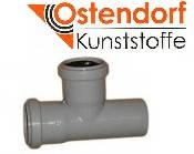 Тройник ПП 50x50х87º Ostendorf (Osma) Германия раструбный с уплотнительными кольцами серый