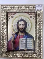 Картина икона деревянная рамка Спаситель