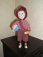 Интерьерная авторская текстильная кукла ручной работы Озорной мальчишка