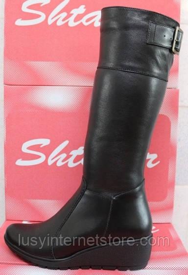 1f99c24d5c25 Сапоги зима женские кожаные на танкетке, сапоги женские кожа от  производителя ...