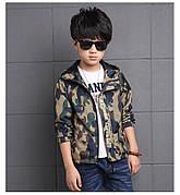 Ветровка на мальчика цвет хаки с капюшоном 201-6