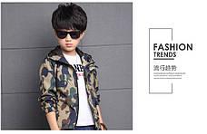 Ветровка на мальчика цвет хаки с капюшоном 201-6, фото 3