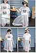 Костюм - белая футболка с надписью и двойная юбка зигзаг с фатином 201-12, фото 2