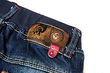 Модные джинсы на мальчика, с заклепками и потертостями 202-5, фото 3