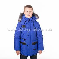 """Детская зимняя  куртка """"Винт"""" для мальчика ,Зима 2018"""