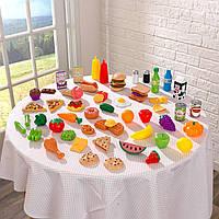 """Игровой набор """"Продукты и еда""""  (65 предметов)  KidKraft 63510"""