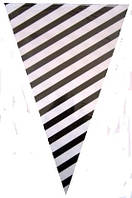 Гирлянда -флажки черно-белая