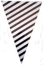 Гирлянда -флажки праздничная  черно-белая