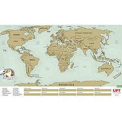 Карта мира UFT на русском и английском