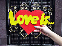 "Фраза из фанеры ""Love is"""
