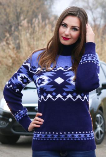 Вязаные женские свитера - Стрелки