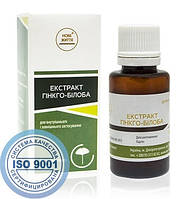Гинкго-билоба экстракт, 30 мл при переутомлении, повышенных умственных нагрузках, приступах мигрени