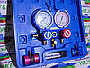 Манометрический коллектор двухвентельный  VALUE  VMG-2-R134a-B шланги 90 см + 2 автомуфты (в чемодане)