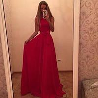 Платье без рукавов макси