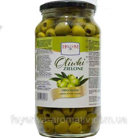 Оливки зеленые без косточки Helcom, 900гр (Польша)