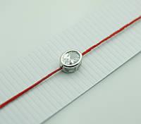 Обереги с цирконами, браслеты обереги из красной нити в серебре 1168