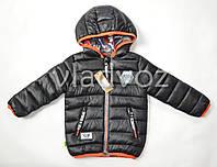 Детская двухсторонняя куртка ветровка на мальчика 3-4 года