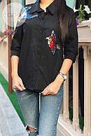 Рубашка вышивка птицы 284(ГН)