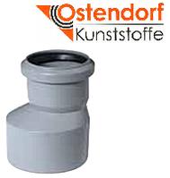 Редукция (длинная) HTR ПП 40x32 Ostendorf (Osma) Германия раструбный с уплотнительными кольцами серый