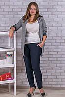 Женские штаны на флисе Nailali A592-9 2XL-1. Размер 50-54. Синие.