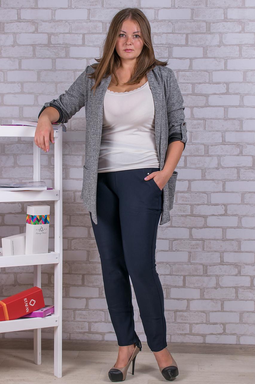 Женские штаны на флисе Nailali A592-9 3XL-1. Размер 52-56. Синие.