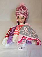 Подростковая шапка для девочки на флисе Winx club р. 52