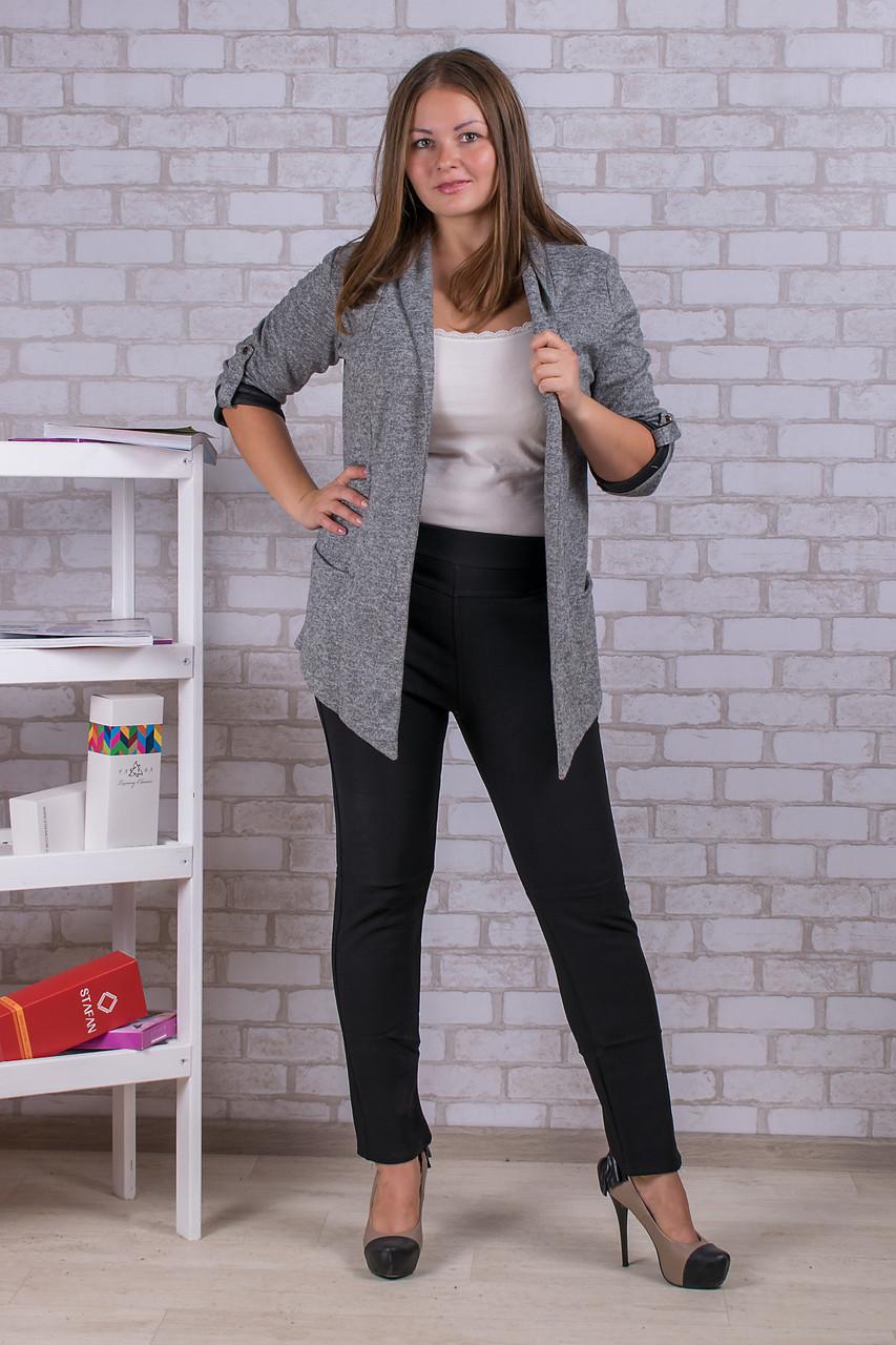 Женские штаны на флисе Nailali A592-9 2XL-2. Размер 50-54. Чёрные.