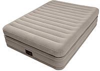 Двуспальная надувная кровать Intex + встроенный электронасос 220V  152х203х51 см  (64446)