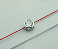 Браслеты обереги из красной нити с цирконами оптом 1172