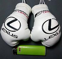 Сувенирные мини перчатки боксерские для авто сувенир брелок логотип Lexus белые