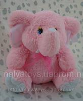 Мягкая плюшева игрушка Слон Розовый,45 см