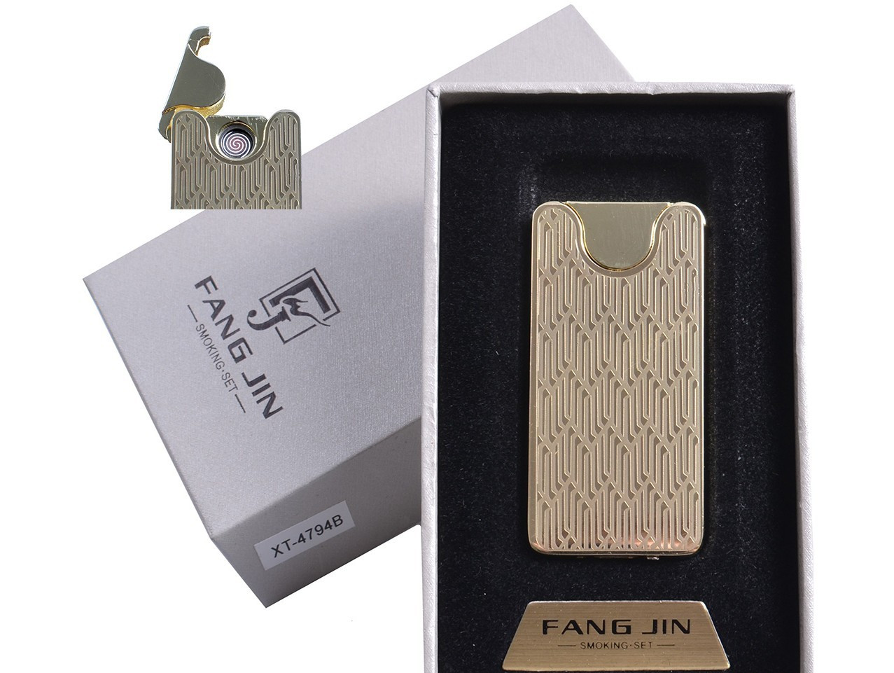 "USB зажигалка ""Абстракция"" (спираль накаливания) №4794B-5"