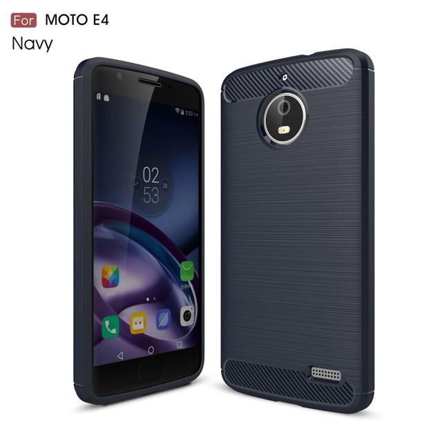 чехол накладка на Motorola Moto E4 XT1762 темно-синий