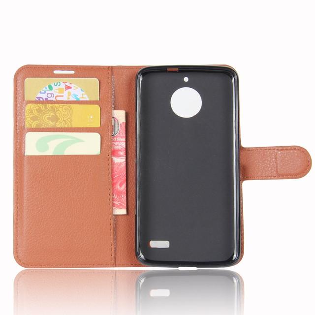чехол книжка на Motorola Moto E4 XT1762 коричневый