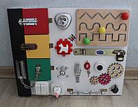Бизиборд белый 3 дверцы и лабиринт