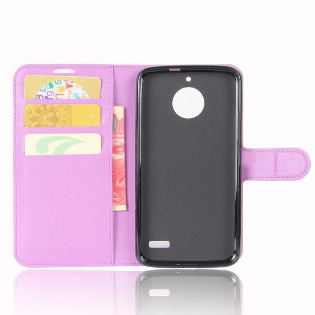 чехол книжка на Motorola Moto E4 XT1762 фиолетовый