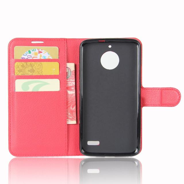 чехол книжка на Motorola Moto E4 XT1762 красный