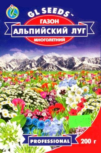 """Газон """"Альпийский луг"""" ТМ """"GL SEEDS"""", 200 г — один из самых стильных видов садового ландшафтного дизайна"""