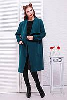 "Пальто из кашемира в стиле casual ""Мадрид"" Turquoise green"