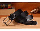 Ремень мужской кожаный DWTS 01 (черный), фото 5