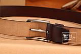 Ремень мужской кожаный DWTS 01 (черный), фото 6