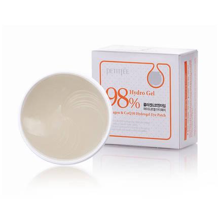 Гидрогелевые патчи  PETITFEE Collagen & Co Q10 Hydrogel Essence Eye Patch, 60 шт, фото 2