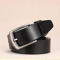 Ремень мужской кожаный DWTS 02 (черный)