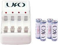 Зарядное устройство ufo kn-8003 + 4 x hr6 ni-mh 2500mah photo